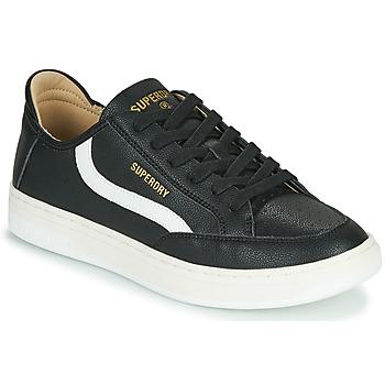 Pantofi Bărbați Pantofi sport Casual Superdry BASKET LUX LOW TRAINER Negru