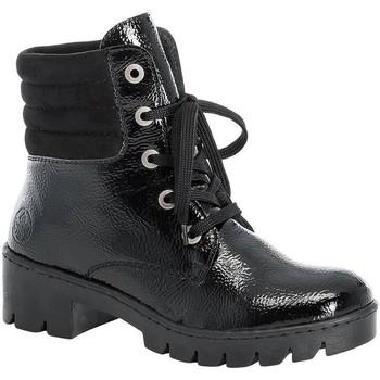 Pantofi Femei Ghete Rieker Prisca Black Schwarz Black