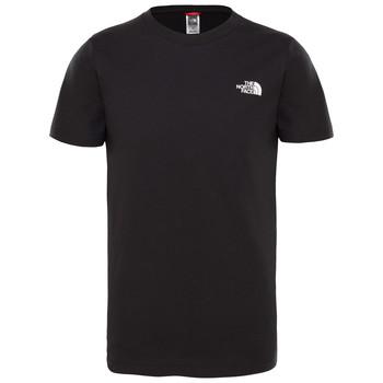 Îmbracaminte Băieți Tricouri mânecă scurtă The North Face SIMPLE DOME TEE Negru