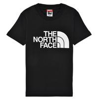 Îmbracaminte Băieți Tricouri mânecă scurtă The North Face EASY TEE Negru