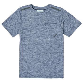 Îmbracaminte Băieți Tricouri mânecă scurtă Columbia TECH TREK Albastru