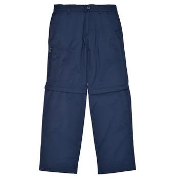 Îmbracaminte Băieți Pantalon 5 buzunare Columbia SILVER RIDGE IV CONVERTIBLE PANT Albastru
