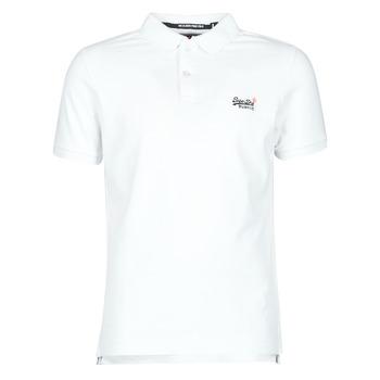 Îmbracaminte Bărbați Tricouri mânecă scurtă Superdry CLASSIC PIQUE S/S POLO Alb
