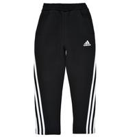 Îmbracaminte Băieți Pantaloni de trening adidas Performance B 3S TAPERED P Negru