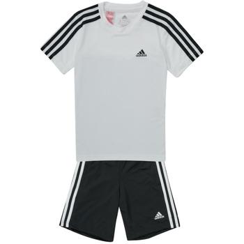 Îmbracaminte Băieți Echipamente sport adidas Performance B 3S T SET Alb / Negru