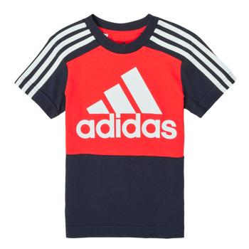 Îmbracaminte Băieți Tricouri mânecă scurtă adidas Performance B CB T Roșu / Albastru
