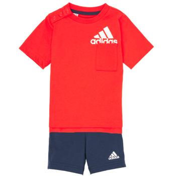 Îmbracaminte Băieți Compleuri copii  adidas Performance BOS SUM  SET Roșu / Negru