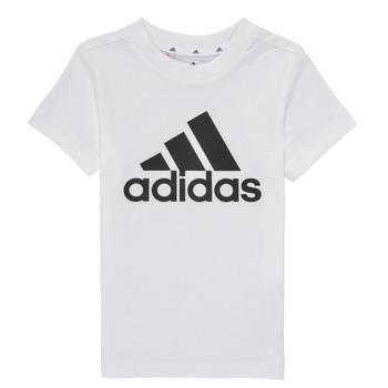 Îmbracaminte Băieți Tricouri mânecă scurtă adidas Performance B BL T Alb