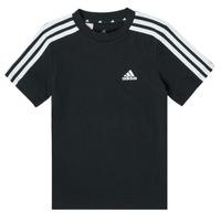 Îmbracaminte Băieți Tricouri mânecă scurtă adidas Performance B 3S T Negru