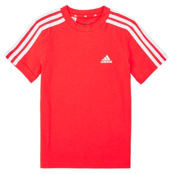 Îmbracaminte Băieți Tricouri mânecă scurtă adidas Performance B 3S T Roșu