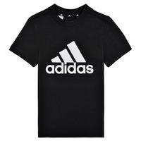 Îmbracaminte Băieți Tricouri mânecă scurtă adidas Performance B BL T Negru