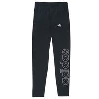 Îmbracaminte Fete Colanti adidas Performance G LIN LEG Negru