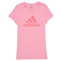Îmbracaminte Fete Tricouri mânecă scurtă adidas Performance G BL T Roz