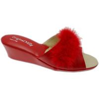 Pantofi Femei Papuci de vară Milly MILLY102ros rosso