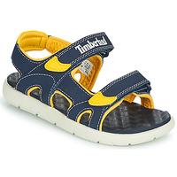 Pantofi Copii Sandale  Timberland PERKINS ROW 2-STRAP Albastru / Galben