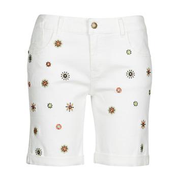 Îmbracaminte Femei Pantaloni scurti și Bermuda Desigual GRECIA Alb