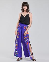 Îmbracaminte Femei Pantaloni fluizi și Pantaloni harem Desigual CHIPRE Albastru