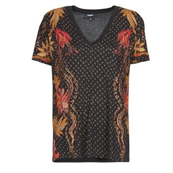 Îmbracaminte Femei Tricouri mânecă scurtă Desigual PRAGA Negru