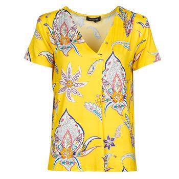 Îmbracaminte Femei Tricouri mânecă scurtă Desigual LEMARK Galben