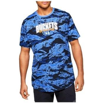Îmbracaminte Bărbați Tricouri mânecă scurtă Under Armour Baseline Verbiage Tee Albastre, Albastru marim