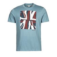 Îmbracaminte Bărbați Tricouri mânecă scurtă Ben Sherman HALF TONE FLEG TEE Albastru