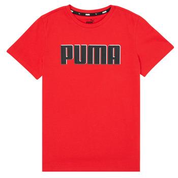 Îmbracaminte Băieți Tricouri mânecă scurtă Puma ALPHA GRAF TEE Roșu