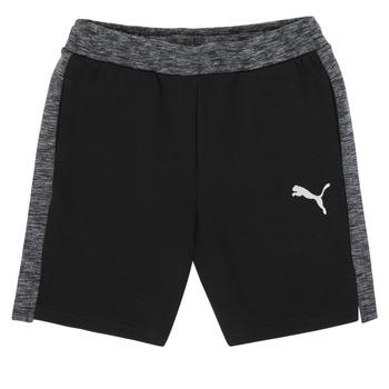 Îmbracaminte Băieți Pantaloni scurti și Bermuda Puma EVOSTRIPE SHORTS Negru