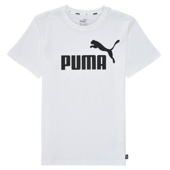 Îmbracaminte Băieți Tricouri mânecă scurtă Puma ESSENTIAL LOGO TEE Alb