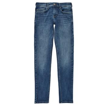 Îmbracaminte Băieți Jeans skinny Pepe jeans FINLY Albastru
