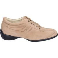 Pantofi Femei Sneakers Hogan BK586 Bej