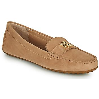 Pantofi Femei Mocasini Lauren Ralph Lauren BARNSBURY FLATS CASUAL Bej