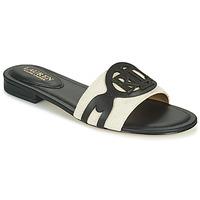 Pantofi Femei Papuci de vară Lauren Ralph Lauren ALEGRA Negru / Bej