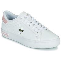 Pantofi Femei Pantofi sport Casual Lacoste POWERCOURT 0721 2 SFA Alb / Roz