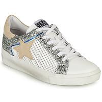 Pantofi Femei Pantofi sport Casual Semerdjian CARLA Alb / Argintiu / Bej