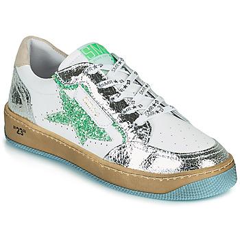 Pantofi Femei Pantofi sport Casual Semerdjian ARTO Alb / Argintiu / Verde