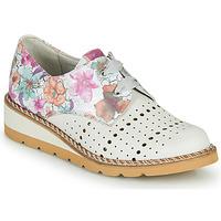 Pantofi Femei Pantofi Derby Dorking TETRIS Alb / Multicolor