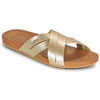 Pantofi Femei Șlapi Reef CUSHION SPRING BLOOM Auriu
