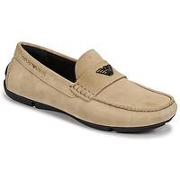 Pantofi Bărbați Mocasini Emporio Armani ITOLIA Bej