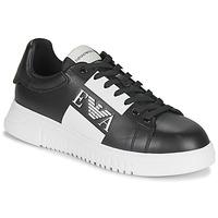 Pantofi Bărbați Pantofi sport Casual Emporio Armani MALTA Negru / Alb