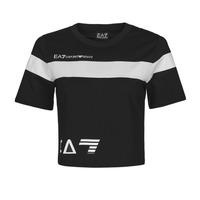 Îmbracaminte Femei Tricouri mânecă scurtă Emporio Armani EA7 3KTT05-TJ9ZZ-1200 Negru / Alb