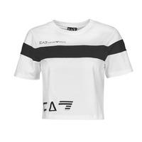Îmbracaminte Femei Tricouri mânecă scurtă Emporio Armani EA7 3KTT05-TJ9ZZ-1100 Alb / Negru