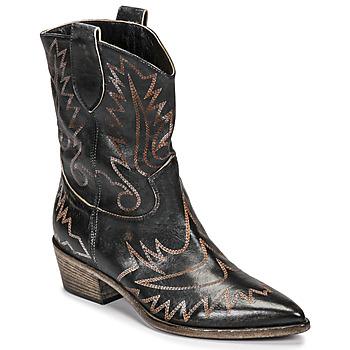 Pantofi Femei Botine Fru.it 6797-372-NERO Negru / Maro