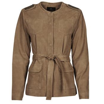 Îmbracaminte Femei Jachete din piele și material sintetic One Step DITA Coniac