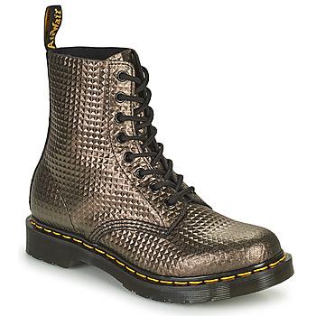 Pantofi Femei Ghete Dr Martens 1460 PASCAL Taupe / Auriu