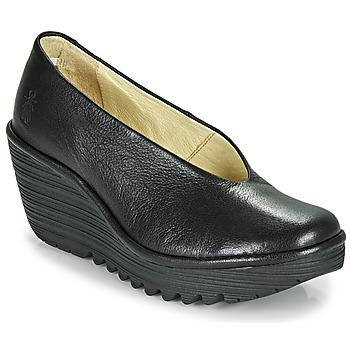 Pantofi Femei Pantofi cu toc Fly London YAZ Negru
