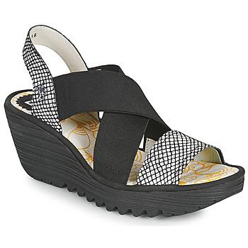 Pantofi Femei Sandale  Fly London YAJI Negru / Alb