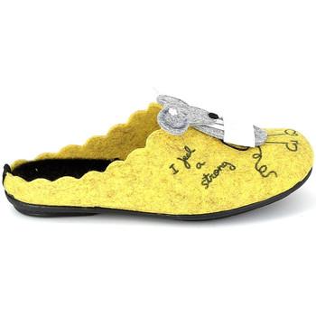 Pantofi Papuci de casă La Maison De L'espadrille Mule Souris Jaune galben
