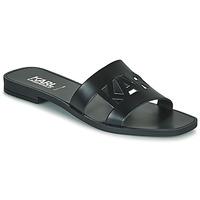 Pantofi Femei Papuci de vară Karl Lagerfeld SKOOT II KARL KUT-OUT Negru