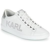 Pantofi Femei Pantofi sport Casual Karl Lagerfeld KUPSOLE II KARL PUNKT LOGO LO Alb