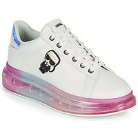 Pantofi Femei Pantofi sport Casual Karl Lagerfeld KAPRI KUSHION KARL IKONIC LO LACE Alb / Multicolor